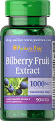 Bilberry - Blåbær 1000 mg 90 Softgels