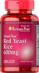 Red Yeast Rice - Rød Gær Ris 600 mg 120 Kapsler