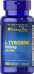 L-Tyrosin 500 mg 100 Kapsler