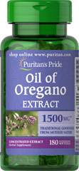 Oregano Oil -  Olio di Origano 1500 mg 180 Capsule Morbide