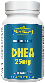 DHEA 25 mg - TR Time Release - 300 Tablets