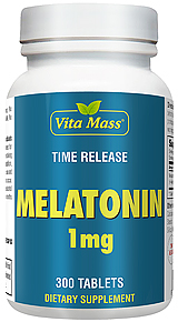 Melatonin 1 mg - TR Time Release - 300 Tablets