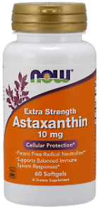 Astaxanthin - Extra Strength - 10 mg - 60 Softgels