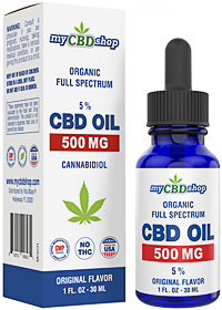 CBD OIL - Full Spectrum - Organic - 500 MG - 5 - 30ML
