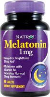 Melatonin Natrol 1 mg 180 Tableten