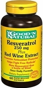 Resveratrol 250 mg Red Wine Extract 60 Softgels