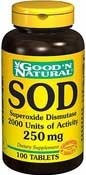SOD Superoxide Dismutase 100 Tablets